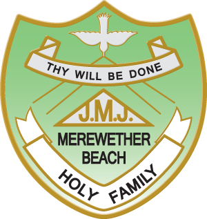 MEREWETHER BEACH Holy Family Primary School Crest